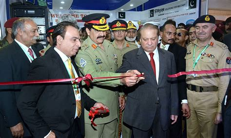 nawaz sharif 2016 in pictures defence expo ideas kicks off in karachi