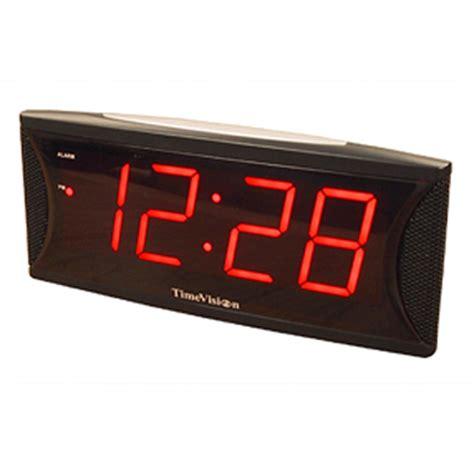 loud 2 inch led alarm clock