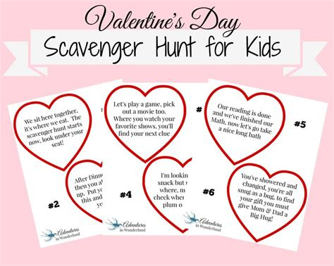 riddles for valentines day s day scavenger hunt for with printable