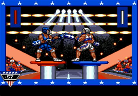 emuparadise losing roms american gladiators usa in game screenshot
