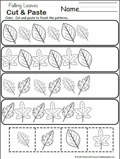 leaf pattern worksheet for kindergarten free pattern worksheet for kindergarten fall leaves