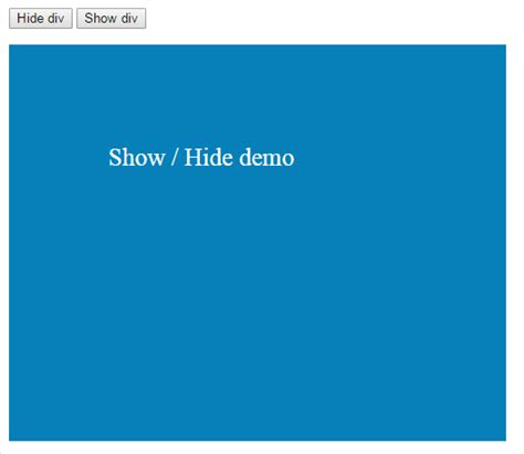 jquery div how to use jquery hide show methods with div table