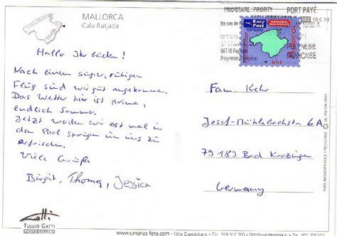 Postkarten Schreiben Muster Philaseiten De Privatpostbriefmarken Auf Sendungen Aus Dem Ausland Auf Ansichtskarten
