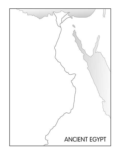 Printable Map Ancient Egypt | blank nile river map