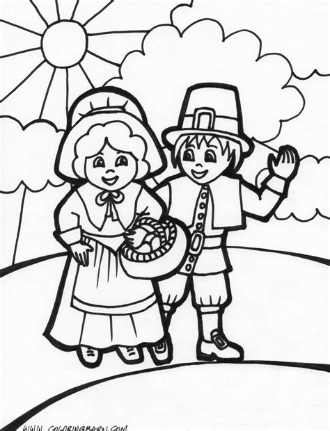 thanksgiving pilgrim coloring pages gt gt disney coloring pages