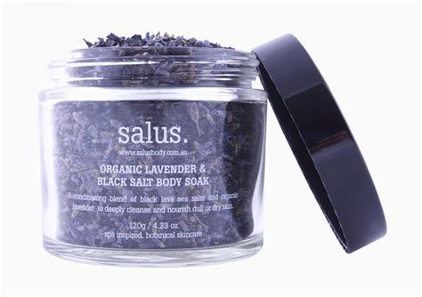Black Lava Salt Detox by Organic Lavender Black Salt Soak 120g Botanik
