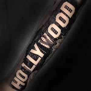 hollywood sign tattoo best tattoo design ideas