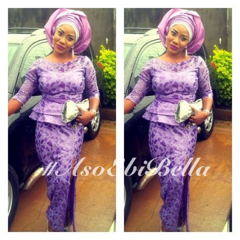 pictures of latest blouse and wrapper bella naija purple lace skirt blouse lilac silver gele aso ebi