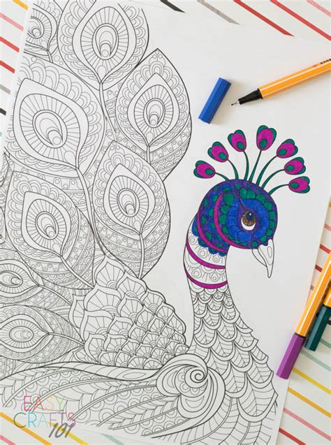 coloring books for adults huffington post free coloring page peacock easy crafts 101