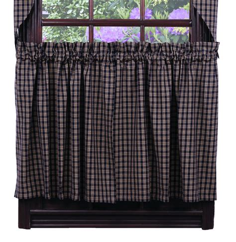 24 inch cafe curtains cambridge navy 24 inch cafe curtains by olivia s