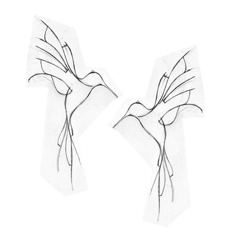 hummingbird outline tattoo hummingbird pinteres