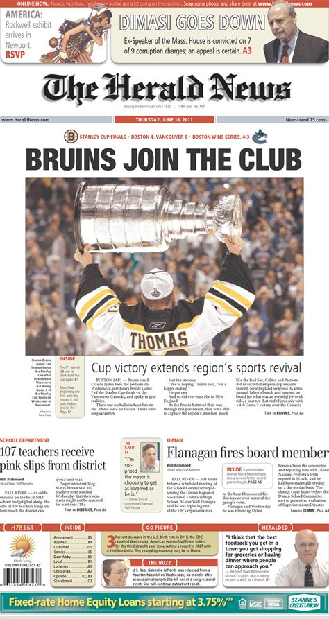 cape cod paper how massachusetts canadian papers played stanley cup win