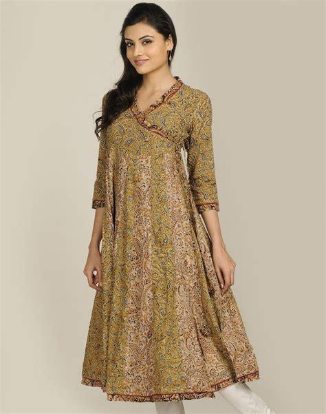 dress design kurta cotton kalamkari anghrakha anarkali long kurta us 65 88