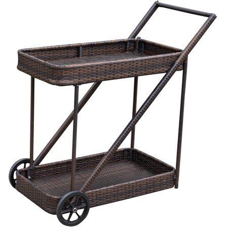 patio serving carts on wheels sundale outdoor patio deluxe resin wicker rattan rolling