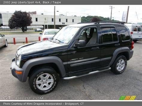black jeep liberty 2002 black 2002 jeep liberty sport 4x4 taupe interior