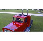 Lucky Kid Driving His Own Mini Kenworth Truck – Overpowerd
