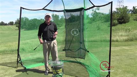golf net for backyard backyard driving range golf mats net and auto golf ball dispenser youtube