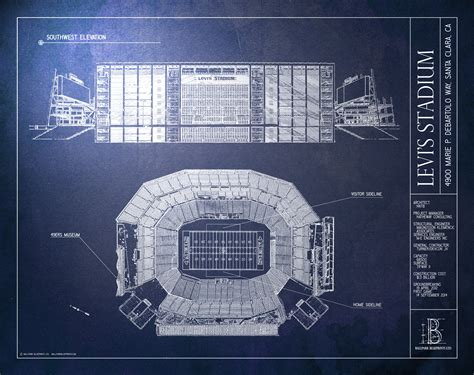 neuromancer s f masterworks levi s stadium san francisco 49ers 49ers gifts ballpark blueprints