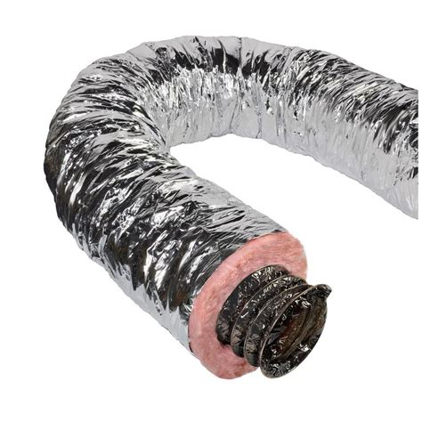 bathroom vent hose master flow 6 in x 25 ft insulated flexible duct r6