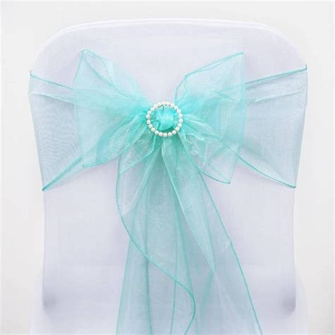 organza chair sashes turquoise organza chair sash efavormart