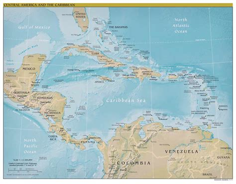 map of central america and its capitals large scale political map of central america and the