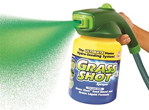 grass shot the ultimate home hydro seeding system liquid