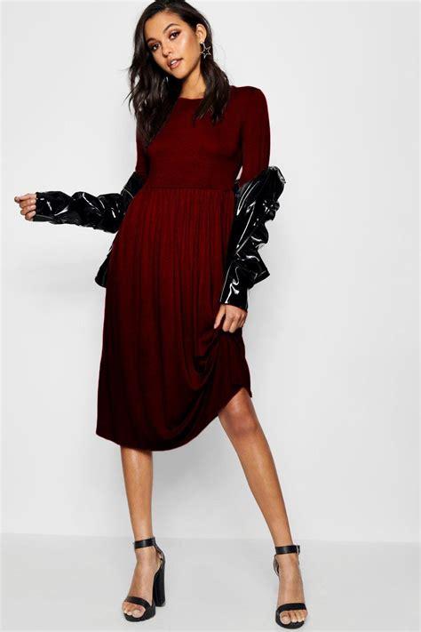 Sleeved Midi Dress boohoo womens sleeve midi dress