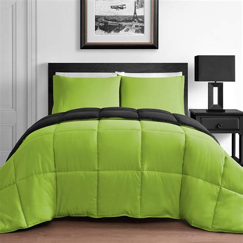 lime green and black comforter reversible comforter sets ease bedding with style
