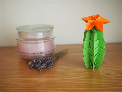 Origami Cactus - origami cactus diy les origamis faciles