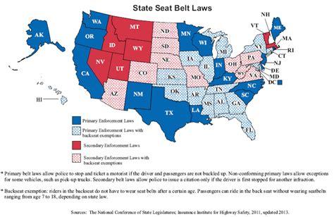 seat belt laws for cars 2009 seat belt