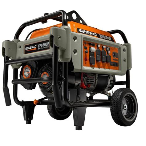 generac 6 500 watt gasoline powered electric start