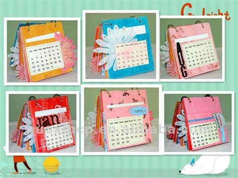 Handmade Calendars - 2014 innovative desk calendar design handmade table