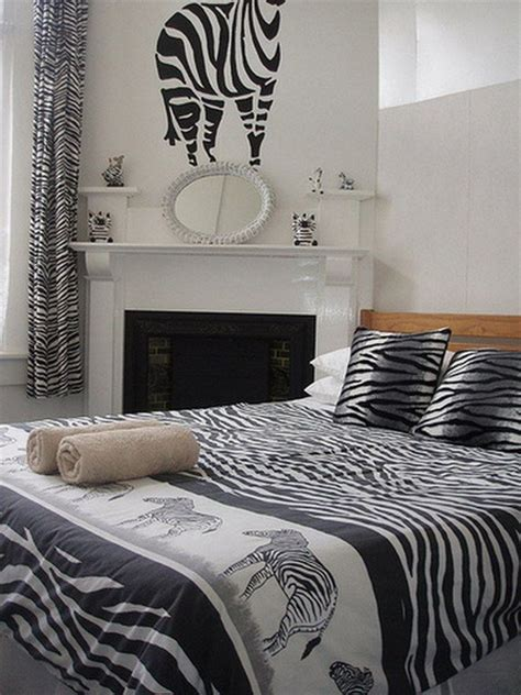 zebra print decor for bedroom more ideas on using the zebra print for the interior