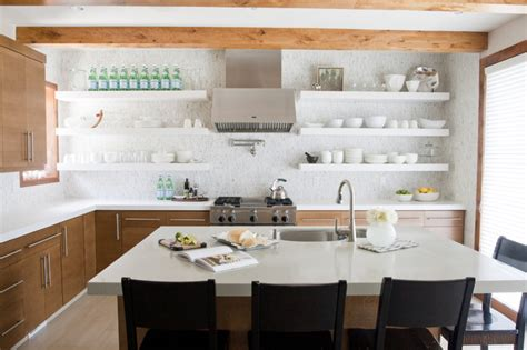 open shelf kitchen ideas white modern kitchen floating shelves decoist