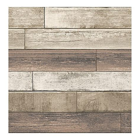 bed bath and beyond wallpaper brewster home fashions reclaimed weathered plank wallpaper