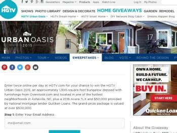 Hgtv Sweepstakes Giveaway - hgtv sweepstakes urban giveaway autos post