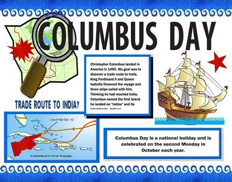 christopher columbus biography project make a poster about columbus day christopher columbus