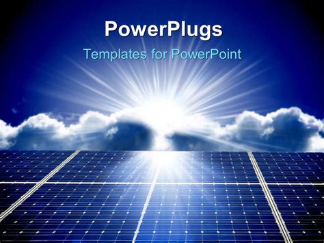 solar panel powerpoint template powerpoint template solar energy panels with beautiful