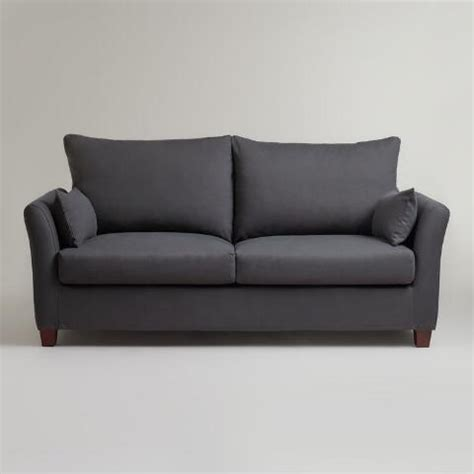 luxe sofa frame charcoal luxe sofa frame and cover world market