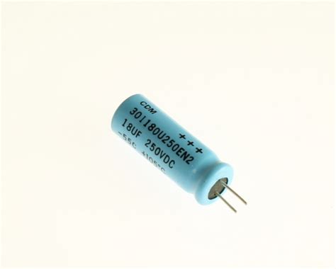 cornell dubilier aluminum electrolytic capacitors 301180u250en2 cornell dubilier cde capacitor 18uf 250v aluminum electrolytic radial high temp