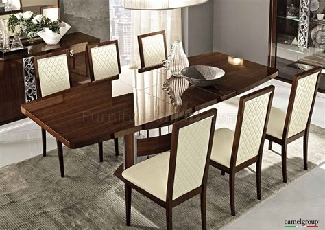 roma dining table in high gloss walnut by esf w options