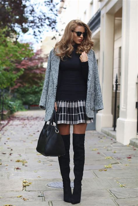 light grey over the knee boots how to wear over the knee boots in fall just the design