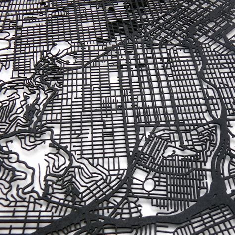 san francisco map black and white san francisco map size 11 quot x14 quot carbonlight