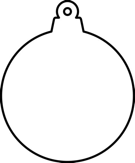 christmas ornament outlines printable ornament outline clip 38