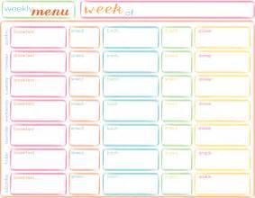 blank weekly menu template 7 best images of blank printable weekly menu blank