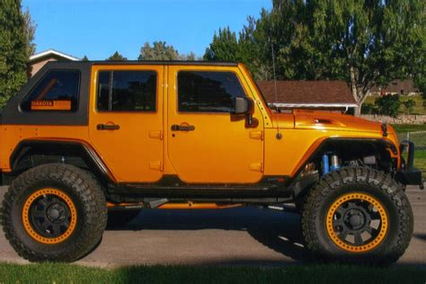 orange jeep wrangler unlimited 2009 jeep wrangler unlimited custom suv 161184