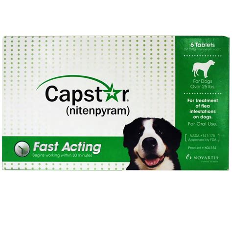 capstar for dogs capstar green for dogs 25 lbs 6 tablets