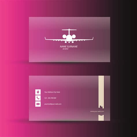 pink business cards template design vector free vector in