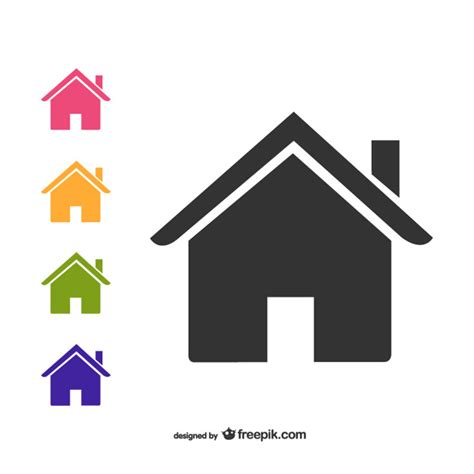 house icon house icons pack vector free download
