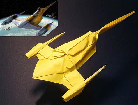 origami starfighter naboo starfighter origami flickr photo
